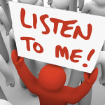Listen-to-me Person
